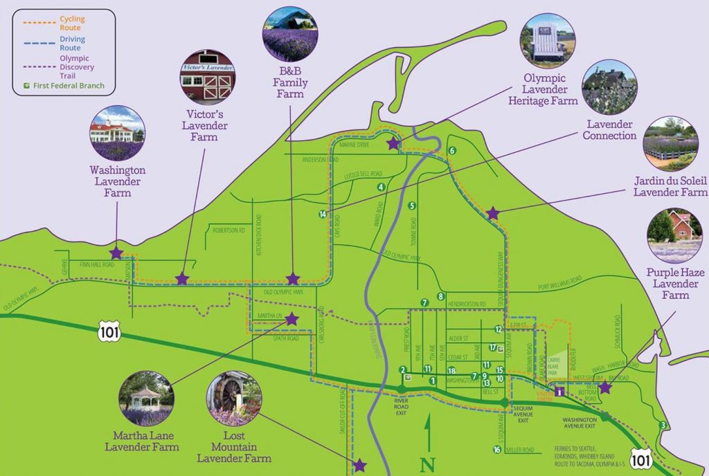 Sequim Lavender Farms Driving & Biking Guide